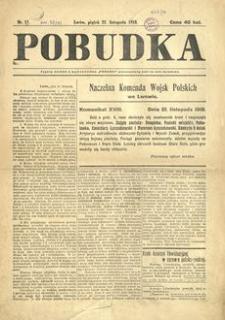 Pobudka. 1918, nr 17 (22 listopada)