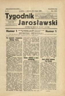 Tygodnik Jarosławski : poświęcony sprawom miasta i powiatu. 1928, R. 25, nr 9 (luty)