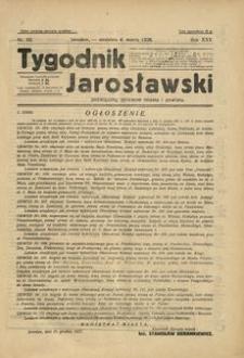 Tygodnik Jarosławski : poświęcony sprawom miasta i powiatu. 1928, R. 25, nr 10 (marzec)