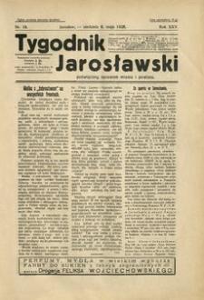 Tygodnik Jarosławski : poświęcony sprawom miasta i powiatu. 1928, R. 25, nr 19 (maj)