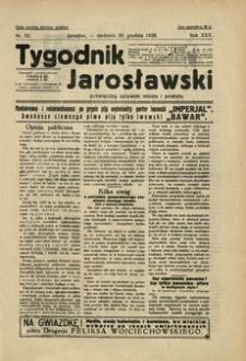 Tygodnik Jarosławski : poświęcony sprawom miasta i powiatu. 1928, R. 25, nr 53 (grudzień)
