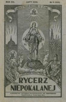 Rycerz Niepokalanej. 1933, R. 12, nr 2 (luty)