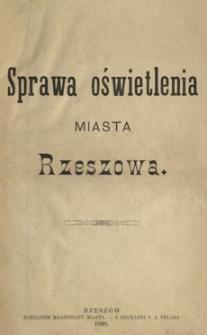 Sprawa oświetlenia miasta Rzeszowa