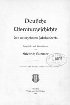 Deutsche Literaturgeschichte des neunzehnten Jahrhunderts