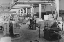 [Oddział obróbki płyt wiórowych w Fabryce Mebli w Kolbuszowej] [Fotografia]