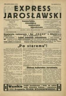 Express Jarosławski : bezpartyjne, niezależne czasopismo tygodniowe. 1929, R. 2, nr 43 (październik)
