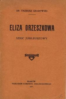 Eliza Orzeszkowa : szkic jubleuszowy