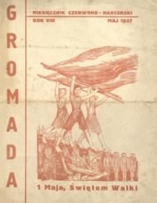 Gromada : miesięcznik czerwono - harcerski. 1937, R. 8 (maj)