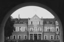 """[Pałac Ponińskich w Horyńcu Zdroju - sanatorium """"Metalowiec""""] [Fotografia]"""