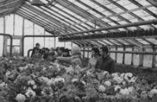 [Uczniowie Zespołu Szkół Rolniczych w Ropczycach na zajęciach w szkolnym gospodarstwie] [Fotografia]