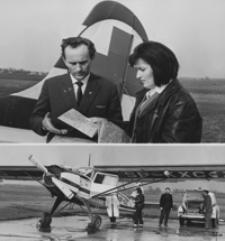 [Kazimiera i Stanisław Czachowie - piloci Zespołu Lotnictwa Sanitarnego w Rzeszowie] [Fotografia]