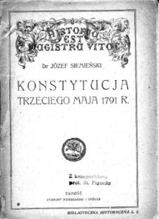 Konstytucja Trzeciego Maja 1791 r. jako wyraz polskiej kultury politycznej
