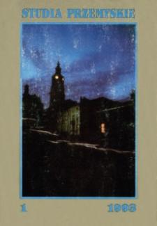 Studia Przemyskie = Studia Premisliensia. 1993, T. 1