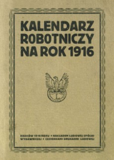 Kalendarz robotniczy na rok 1916