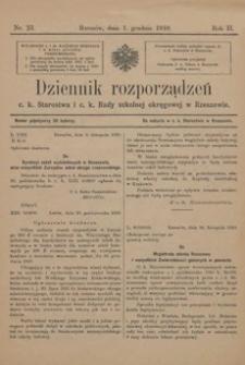 Dziennik rozporządzeń c. k. Starostwa i c. k. Rady szkolnej okręgowej w Rzeszowie. 1910, R. 2, nr 23