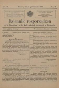 Dziennik rozporządzeń c. k. Starostwa i c. k. Rady szkolnej okręgowej w Rzeszowie. 1910, R. 2, nr 19