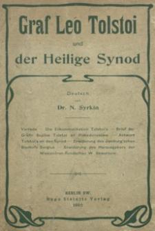 Graf Leo Tolstoi und der Heilige Synod