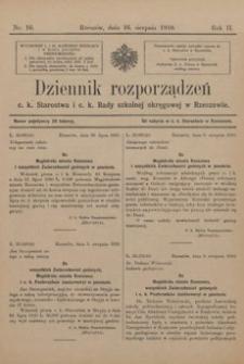 Dziennik rozporządzeń c. k. Starostwa i c. k. Rady szkolnej okręgowej w Rzeszowie. 1910, R. 2, nr 16