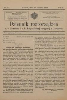 Dziennik rozporządzeń c. k. Starostwa i c. k. Rady szkolnej okręgowej w Rzeszowie. 1910, R. 2, nr 12