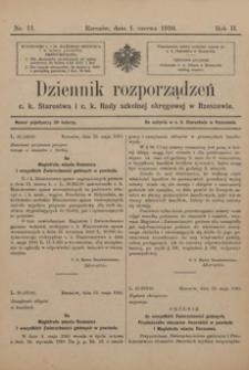 Dziennik rozporządzeń c. k. Starostwa i c. k. Rady szkolnej okręgowej w Rzeszowie. 1910, R. 2, nr 11