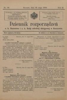 Dziennik rozporządzeń c. k. Starostwa i c. k. Rady szkolnej okręgowej w Rzeszowie. 1910, R. 2, nr 10