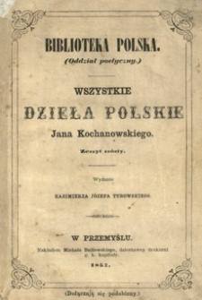 Wszystkie dzieła polskie Jana Kochanowskiego