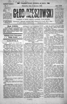 Głos Rzeszowski. 1920, R. 23, nr 1-9, 11-33, 35-38