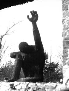 """[Pustków pow. dębicki. Pomnik """"Pamięci pomordowanych przez hitlerowców w obozie zagłady Pustków w latach 1940-1944"""" nr 5] [Fotografia]"""