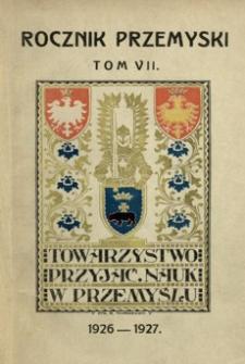 Rocznik Przemyski za rok 1926-1927. T. 7