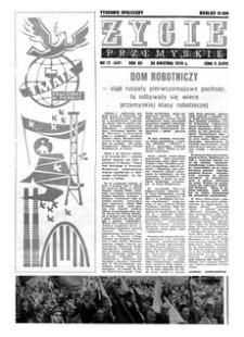 Życie Przemyskie : tygodnik społeczny. 1978, R. 12, nr 17 (547) (26 kwietnia)
