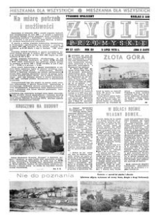 Życie Przemyskie : tygodnik społeczny. 1978, R. 12, nr 27 (557) (5 lipca)