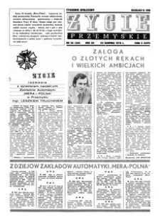 Życie Przemyskie : tygodnik społeczny. 1978, R. 12, nr 34 (564) (23 sierpnia)