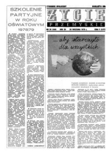 Życie Przemyskie : tygodnik społeczny. 1978, R. 12, nr 38 (568) (20 września)