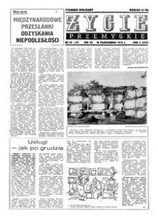 Życie Przemyskie : tygodnik społeczny. 1978, R. 12, nr 42 (572) (18 października)