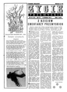 Życie Przemyskie : tygodnik społeczny. 1978, R. 12, nr 44 (574) (1 listopada)