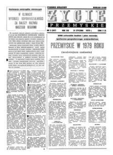 Życie Przemyskie : tygodnik społeczny. 1979, R. 13, nr 5 (587) (31 stycznia)