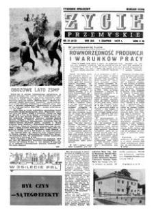 Życie Przemyskie : tygodnik społeczny. 1979, R. 13, nr 31 (613) (1 sierpnia)