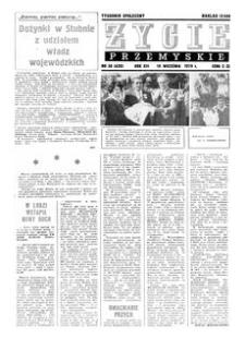 Życie Przemyskie : tygodnik społeczny. 1979, R. 13, nr 38 (620) (19 września)