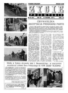 Życie Przemyskie : tygodnik społeczny. 1979, R. 13, nr 39 (621) (26 września)