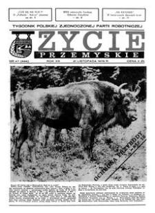 Życie Przemyskie : tygodnik Polskiej Zjednoczonej Partii Robotniczej. 1979, R. 13, nr 47 (629) (21 listopada)
