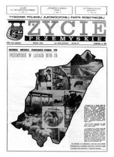 Życie Przemyskie : tygodnik Polskiej Zjednoczonej Partii Robotniczej. 1979, R. 13, nr 50 (632) (12 grudnia)