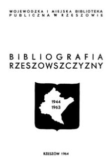 Bibliografia Rzeszowszczyzny 1944-1963 : druki zwarte