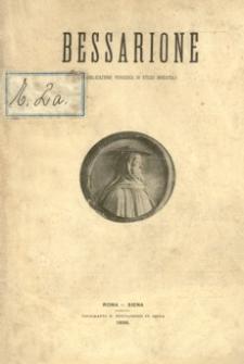 Bessarione : pubblicazione periodica di studi orientali. 1896, R. 1, nr 1 (1 maja)