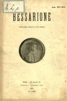 Bessarione : pubblicazione periodica di studi orientali. 1898, R. 2, nr 21-22 (styczeń-marzec)