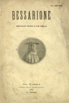 Bessarione : pubblicazione periodica di studi orientali. 1898, R. 3, nr 25-26 (lipiec-sierpień)