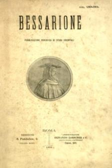 Bessarione : pubblicazione periodica di studi orientali. 1898, R. 3, nr 29-30 (listopad-grudzień)