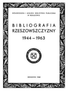 Bibliografia Rzeszowszczyzny 1944-1963 : artykuły z czasopism