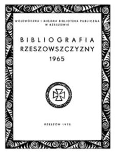 Bibliografia Rzeszowszczyzny 1965