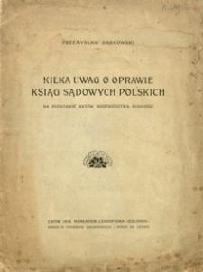 Kilka uwag o oprawie ksiąg sądowych polskich na podstawie aktów województwa ruskiego