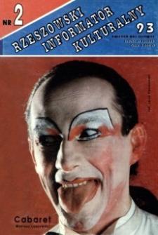 Rzeszowski Informator Kulturalny. 1993, nr 2 (kwiecień-maj-czerwiec)